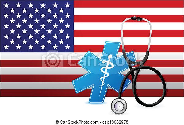 american medicine concept illustration design - csp18052978