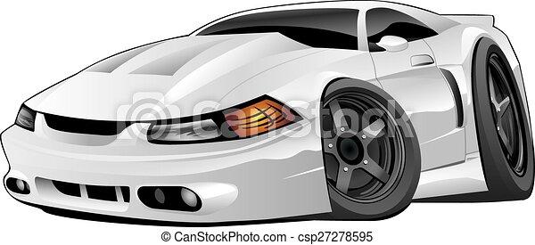 American Modern Muscle Car - csp27278595