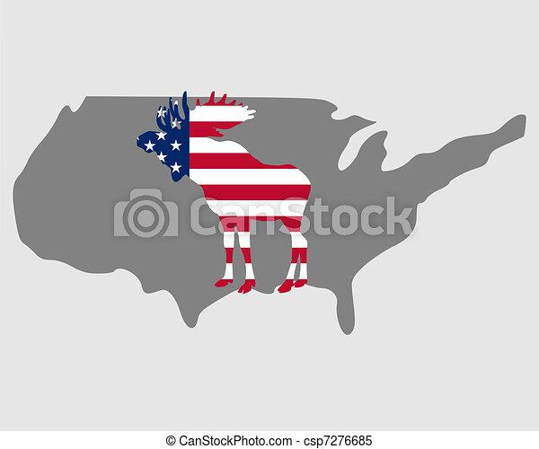 American moose - csp7276685