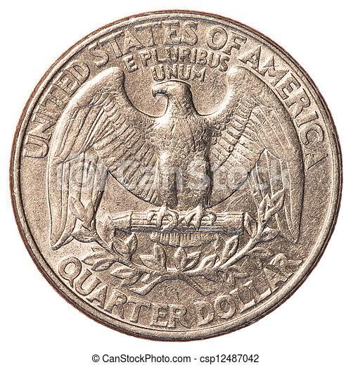 American one quarter coin - csp12487042