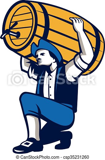 american patriot lifting beer keg isolated retro clip art vector rh canstockphoto com patriotic clipart black and white patriotic clip art borders free