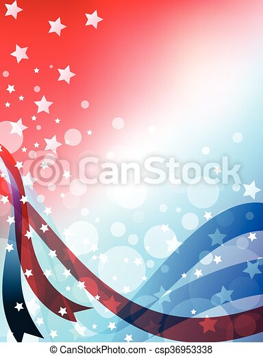 American patriotic abstract design - csp36953338