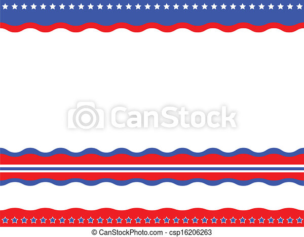 American patriotic background - csp16206263