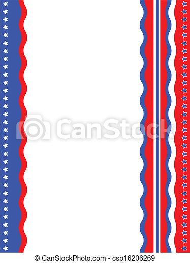 American patriotic background - csp16206269