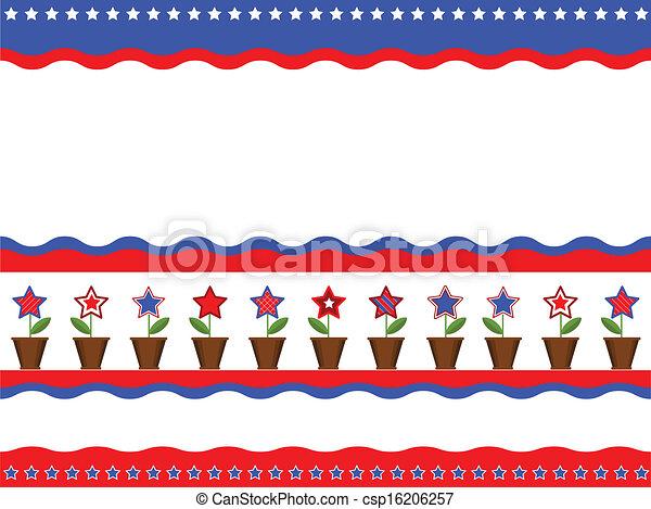 American patriotic background - csp16206257