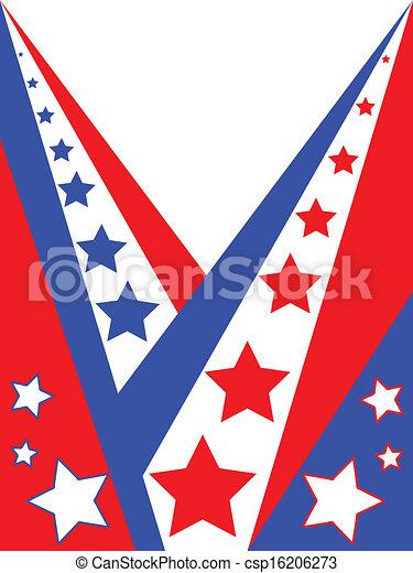 American patriotic background - csp16206273
