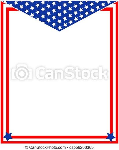 american patriotic border abstract american flag patriotic frame