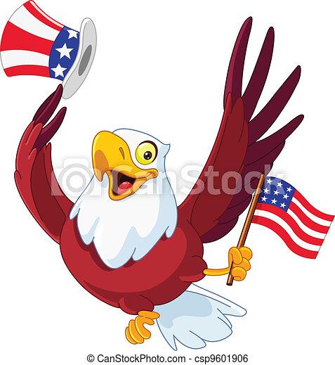 American patriotic eagle - csp9601906