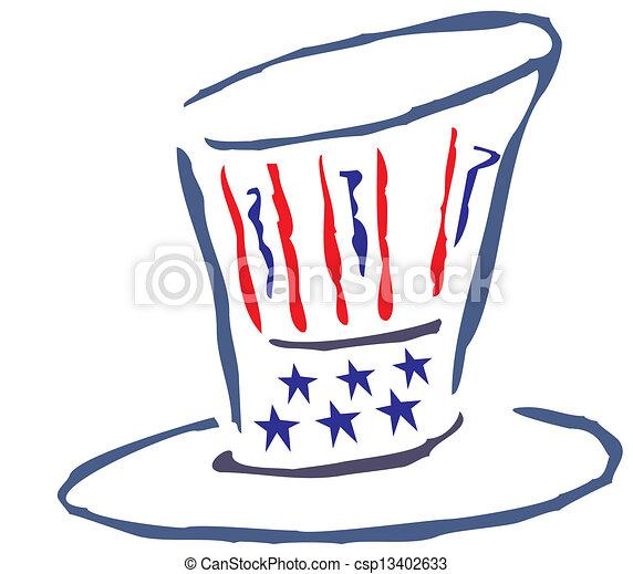 American Patriotic Hat  - csp13402633