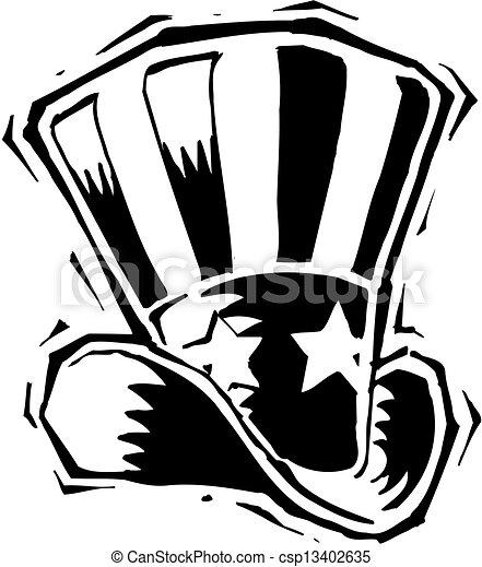 American Patriotic Hat  - csp13402635