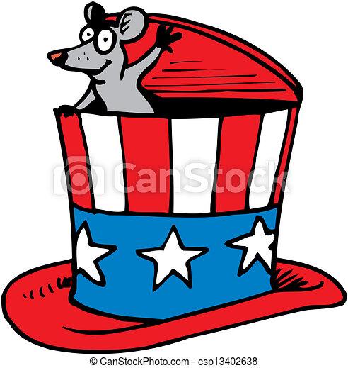 American Patriotic Hat  - csp13402638