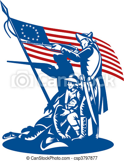american revolution illustrations and clip art 753 american rh canstockphoto com american revolutionary war soldier clipart american revolution clipart black and white