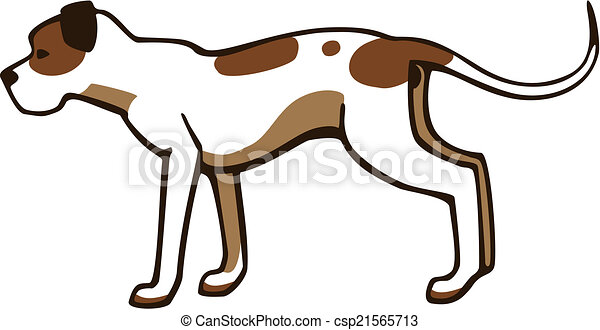 vector drawing of a dog the american pit bull white with vector rh canstockphoto com pitbull black and white clipart pitbull black and white clipart