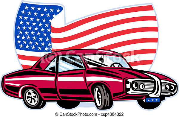 graphic design illustration of an american pontiac muscle clip rh canstockphoto com muscle car clipart vector muscle car clip art free