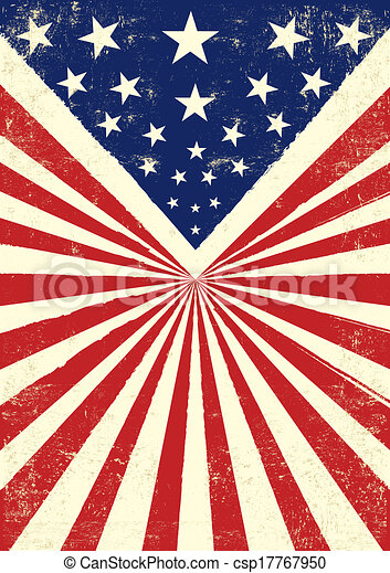 American Retro An Vintage Flag With A Texture Clipart