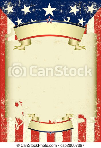 American retro dirty frame - csp28007897