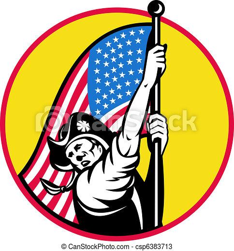 American revolutionary soldier star - csp6383713