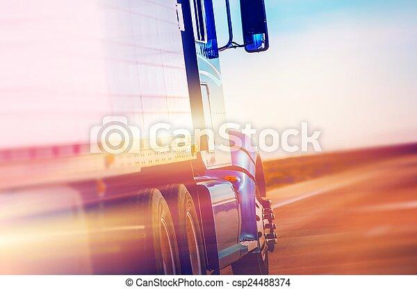 American Semi Truck - csp24488374