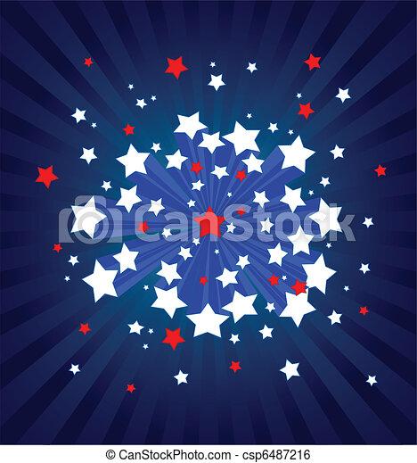 American starburst background  - csp6487216
