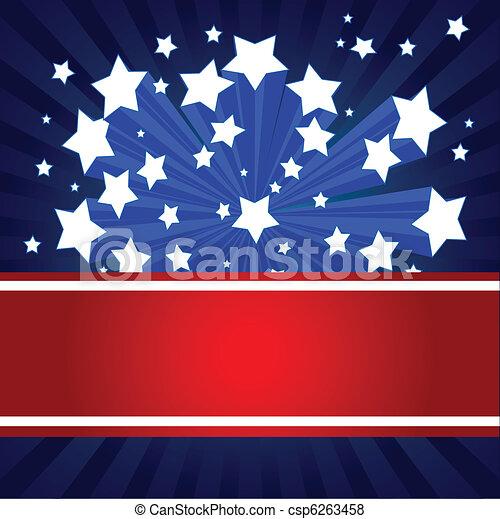 American starburst background - csp6263458