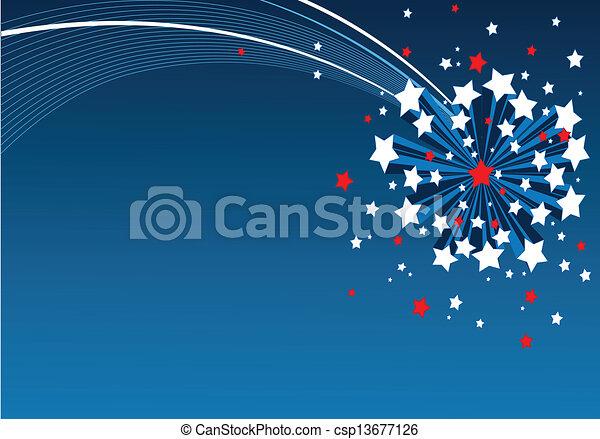 American starburst background - csp13677126