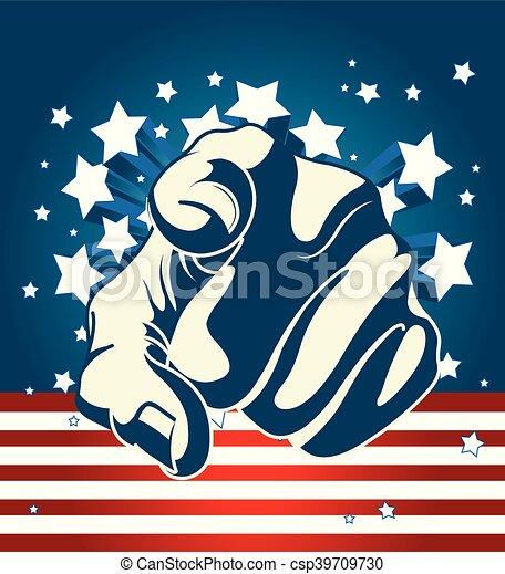 American Starburst Forefinger - csp39709730
