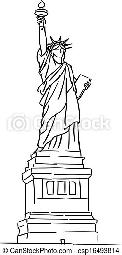 American Statue of Liberty - csp16493814