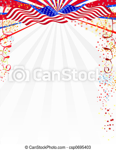 American style background - csp0695403