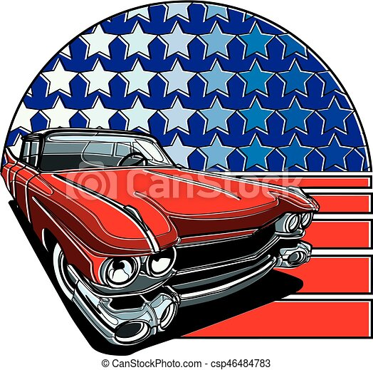 American Style Badge - csp46484783