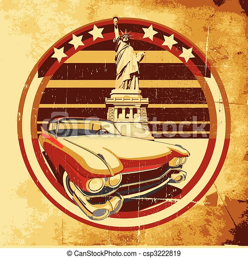 American Style Poster - csp3222819