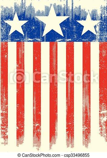 American theme grunge flag - csp33496855