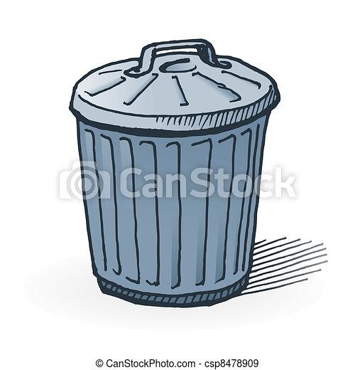 american trash can handmade illustration of garbage bin on white rh canstockphoto com trash can clipart free trash can clipart black and white