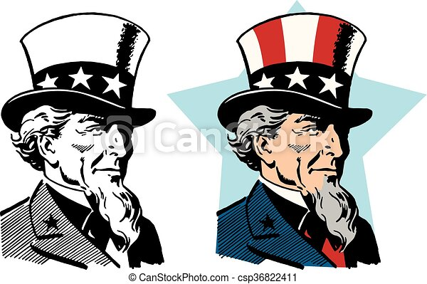 American Uncle Sam A Graphic Depiction Of The American Symbol Uncle