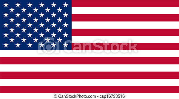 American USA Flag With Real Colours - csp16733516
