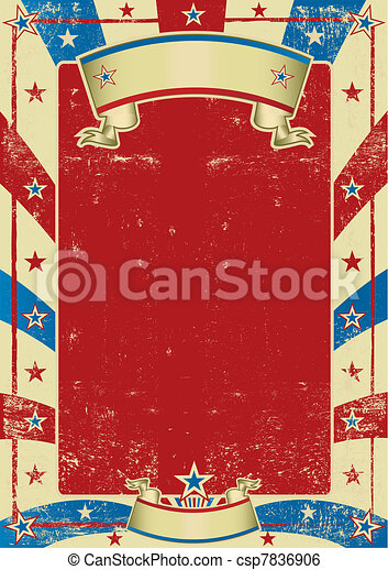 american used poster with red frame - csp7836906