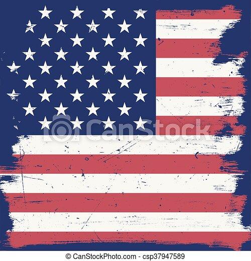 American vintage flag. - csp37947589