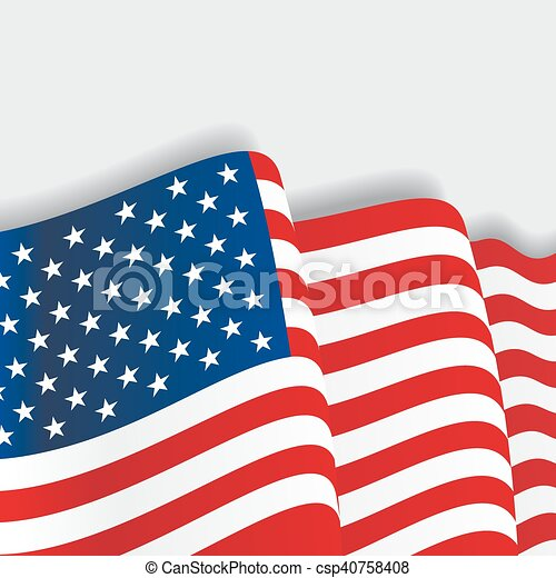 american waving flag vector illustration american waving vector rh canstockphoto com waving flag vector file waving flag vector file