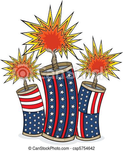 americana firecrackers vector art in illustrator 8 three vector rh canstockphoto com animated firecracker clipart cartoon firecracker clipart