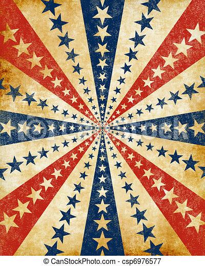 Americana Grunge Starburst Csp