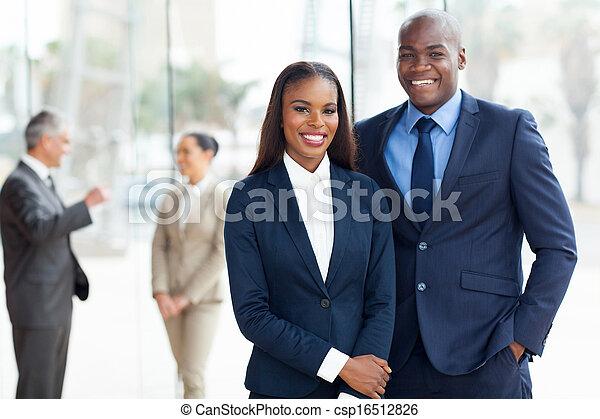 americano, africano, businesspeople, jovem - csp16512826