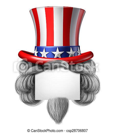 americano, cappello, segno - csp28706807