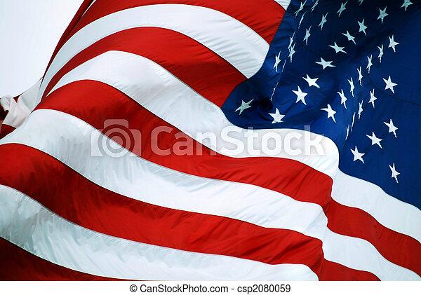americano, closeup, bandeira - csp2080059