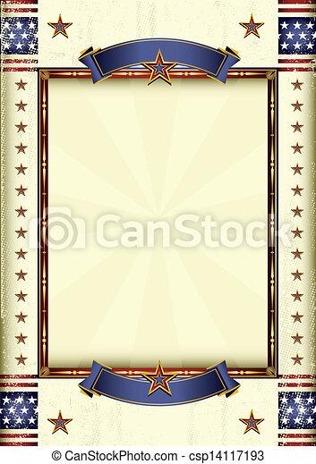 americano, cornice - csp14117193