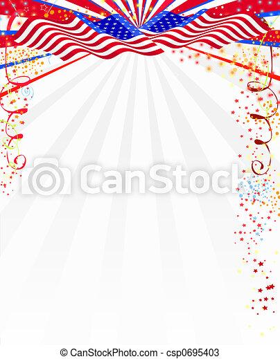 americano, estilo, fundo - csp0695403