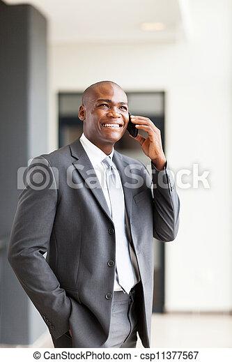 americano, executivo, negócio, africano - csp11377567