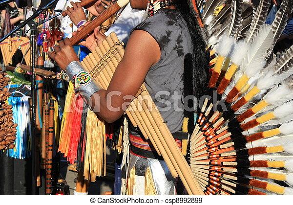 americano, musica, sud, nativo - csp8992899