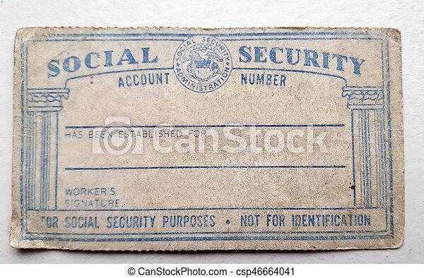 americano, scheda previdenza sociale, portato - csp46664041
