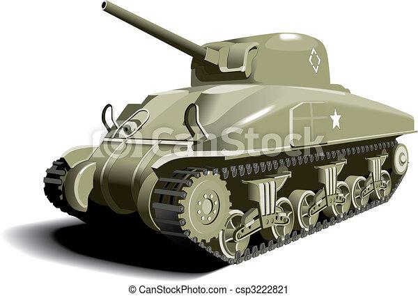 americano, tanque - csp3222821