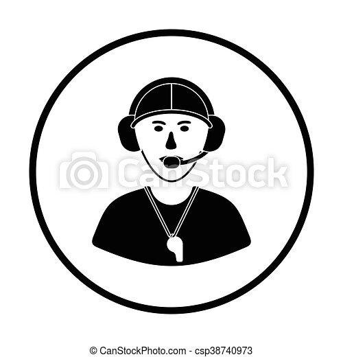 americano, treinador, futebol, ícone - csp38740973