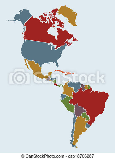 Americas Map Chunky Cartoon Map Of North And South America Map